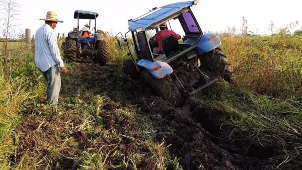 Patinamiento de un tractor